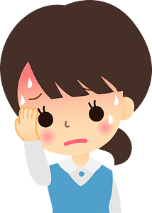 Woman is Sick with Fever and Cold clipart