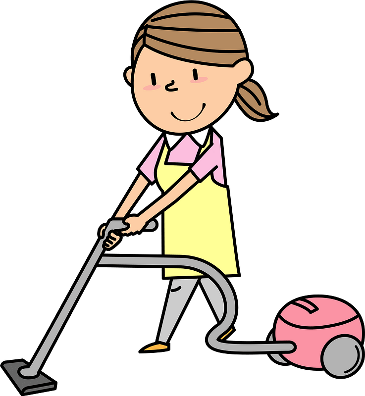 Woman Is Using A Vacuum Cleaner Clipart Free Download Transparent Png Creazilla
