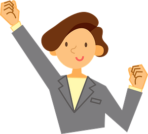 Businesswoman is Pumping a Fist clipart