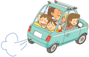 Family is Driving on a Road Trip clipart