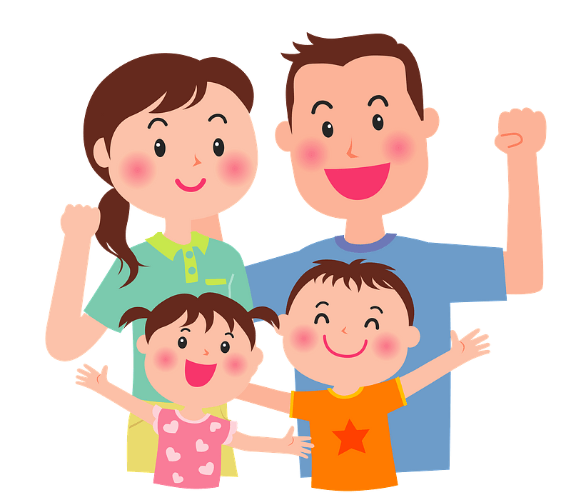 Family Diversity 4. Clipart. BLACK AND WHITE & Color Images. {Lilly Silly  Billy}