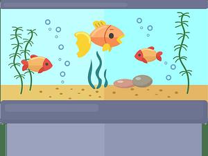 Fish tank clipart