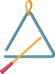 Triangle instrument clipart