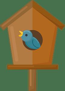 Birdhouse with bird clipart