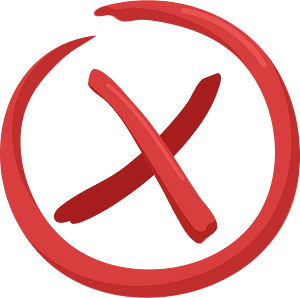 Red X clipart