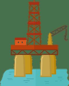 Клипарт Oil rig