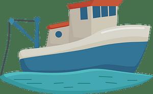 Клипарт Fishing boat