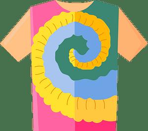 Клипарт Tie Dye T-shirt