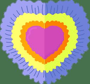 Клипарт Tie Dye heart