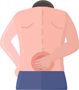 Back injury clipart