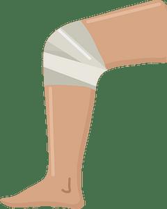 Knee injury clipart