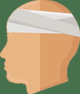 Head injury clipart