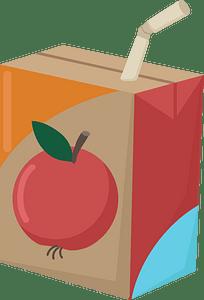 Juice box clipart