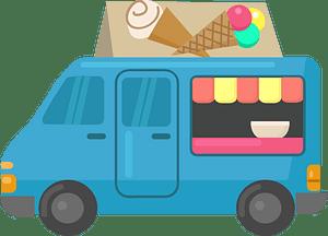 Ice-cream truck clipart