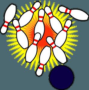 Ten Pin Bowling clipart