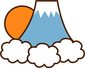 Mount Fuji at Sunrise clipart