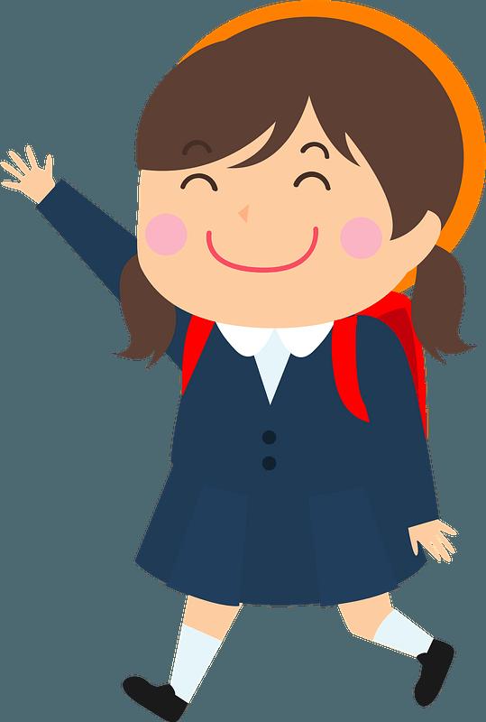 Schoolgirl clipart