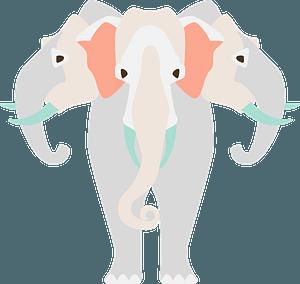 Airavata - Elephant to carry Hindu God Indra clipart