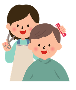 Barber is Giving a Haircut clipart