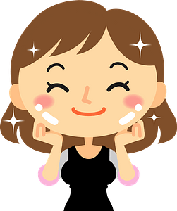 Woman is Doing skin Care clipart