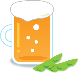 Beer Mug and Edamame Beans clipart