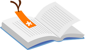 Book and Bookmark clipart
