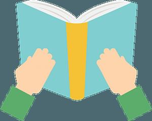 Hands Holding an Open Book clipart