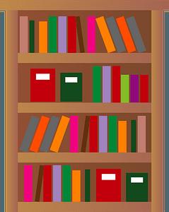 Bookshelf is Full of Books clipart