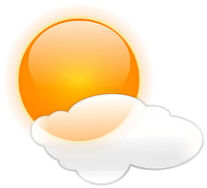 Bright sun and cloud clipart