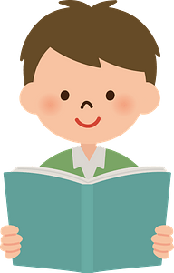 Boy is Reading a Book clipart