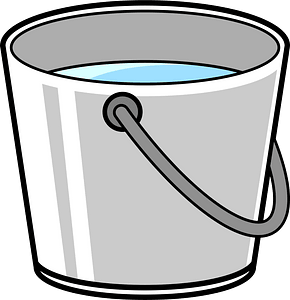 Bucket of Water clipart