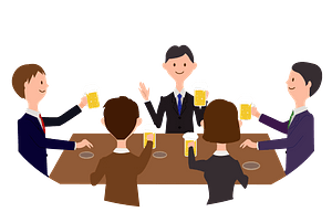 Business People are Drinking at a Party clipart