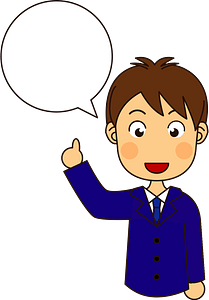 Businessman and Speech Bubble clipart
