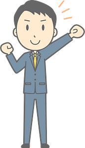 (Noah) Businessman is Cheering clipart