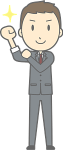 (Nathan) Businessman is Pumped up clipart