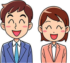 (Charlie) Businessman and Businesswoman are Smiling clipart