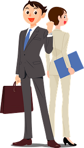 Businessman and Businesswoman clipart