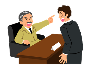 Businessman Fires Employee clipart