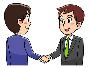 Business Men are Shaking Hands clipart