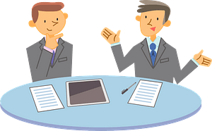 (Robert) Business Men are Meeting clipart