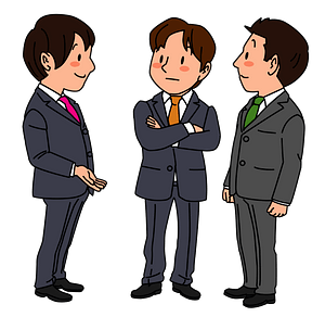Business Men are Talking clipart