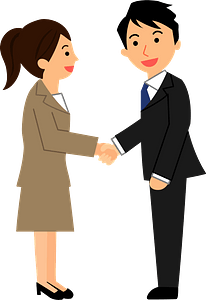 (Pete) Business People are Shaking Hands clipart