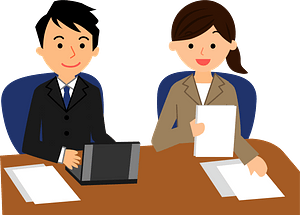 (Pete) Business People are Meeting clipart