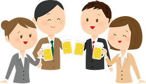 Business Persons are at a Party clipart