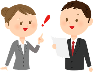 Business Persons are Talking clipart