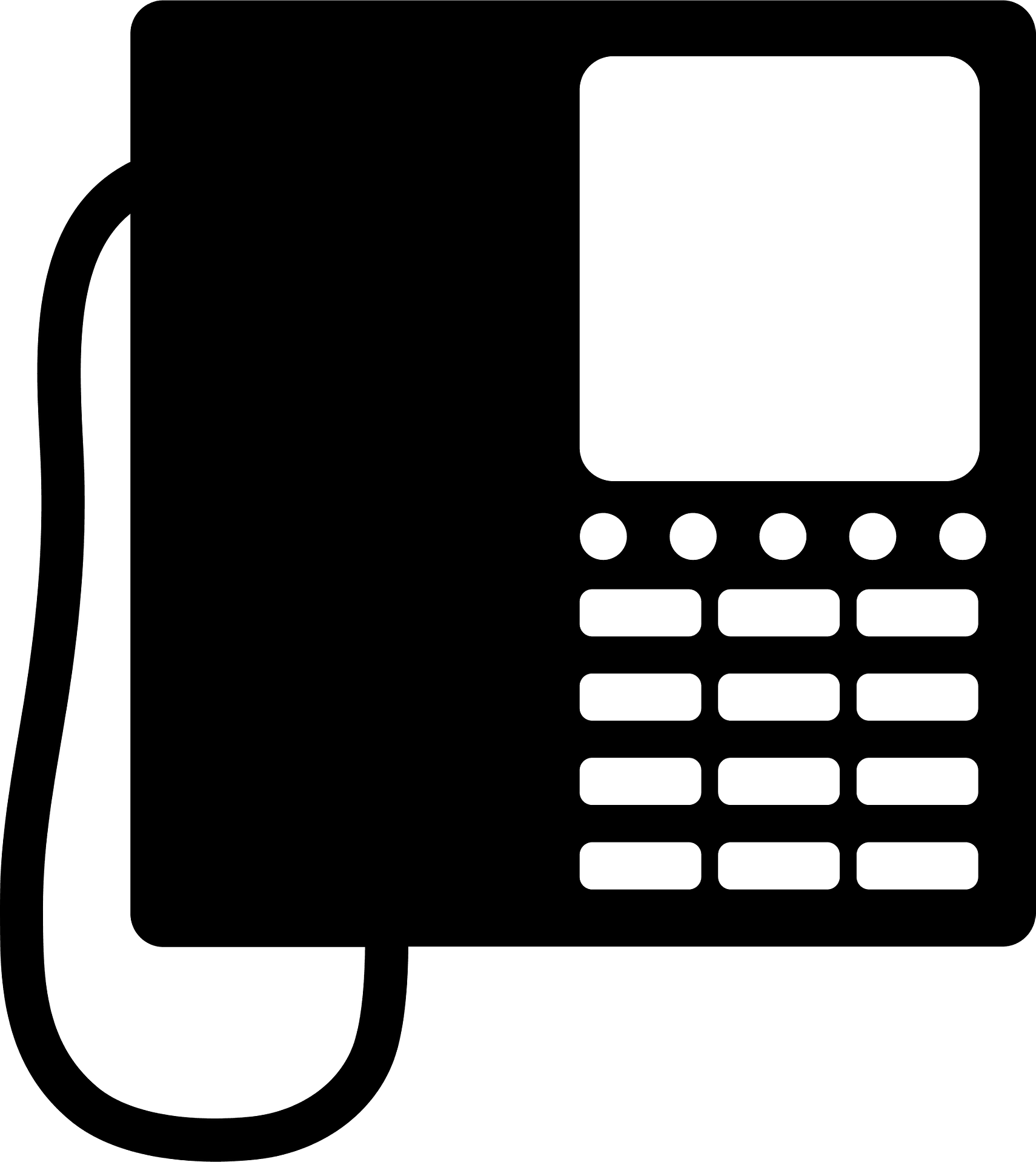 Business Phone Black And White Clipart Free Download Transparent Png Creazilla