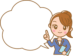 Businesswoman with a Speech Bubble clipart