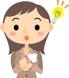 (Elizabeth) Businesswoman Has an Idea clipart