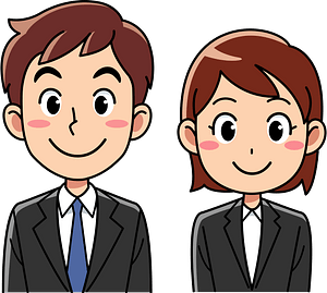 (Charlie) Businesswoman and Businessman clipart