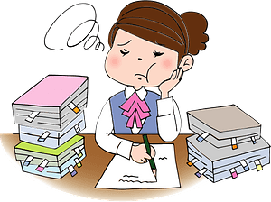 Businesswoman is Stressed clipart